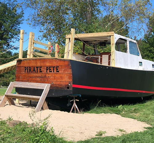 Pete's Pirate Ship at Ellms Farm