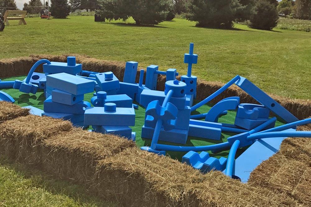 Foam Blue Block play area