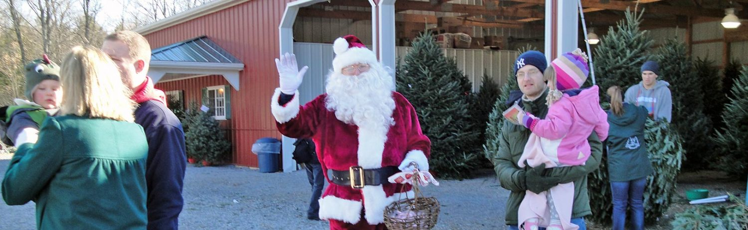 Santa at Ellms Christmas Tree Farm in Saratoga