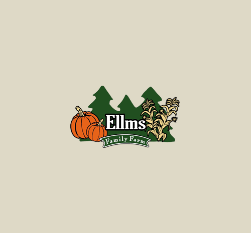 Ellms Family Farm logo on cream background