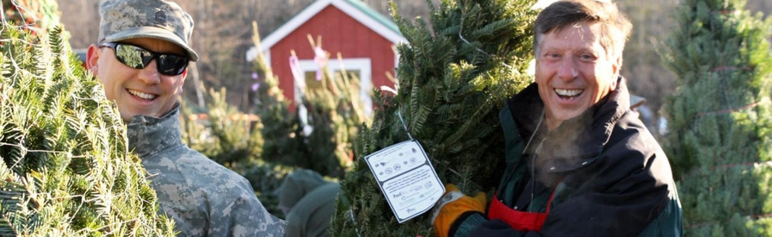 Ellms Family Farm owner donating Christmas trees to Trees for Troops